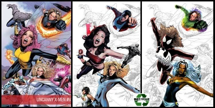 Uncanny X-Men #500 Greg Land Variant Cover