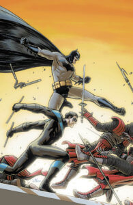 Batman and Nightwing fighting ninjas