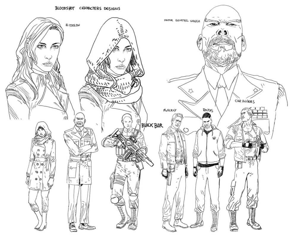Amilcar Pinna's character designs