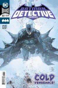 Batman in a snowstorm