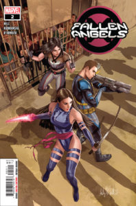 Psylocke, Cable and X-23 readying for a fight