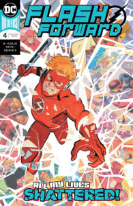 Wally West breaking through a collage of his memories