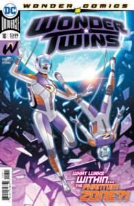 The Wonder Twins in space suits