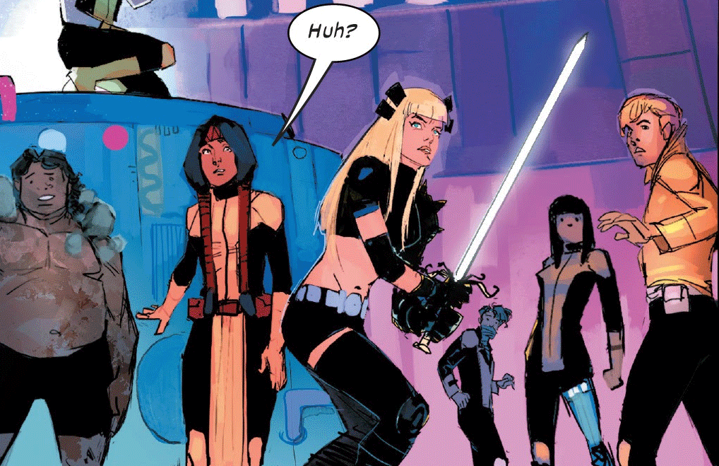 Panels from New Mutants #1