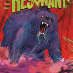 A large bear roars