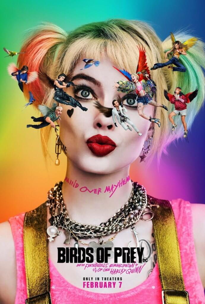 Poster for Birds of Prey, showing Margot Robbie as Harley Quinn