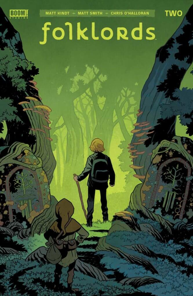 Folklords #2 Cover by Matt Smith depicting protagonist Ansel in a forest