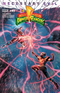 Mighty Morphin Power Rangers #45, cover by Jamal Campbell, BOOM Studios, 2019