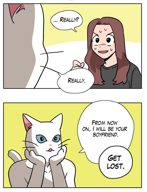 Meow Man chapter 1, Webtoon, Olso translated by Dami Lee