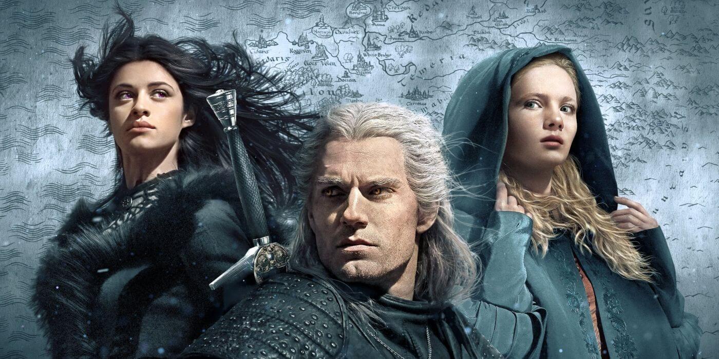 Yennefer, Geralt, and Ciri