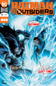Batman fighting Black Lightning