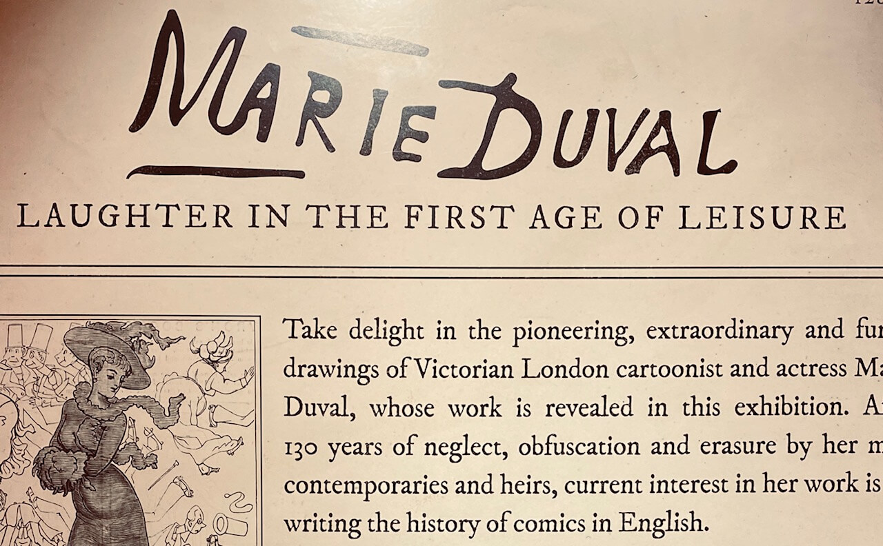 a portion of the introduction text from the Marie Duval exhibit