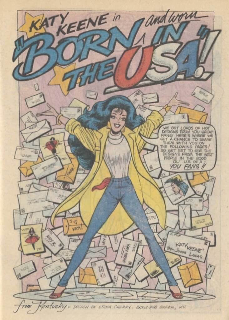 Scan from Katy Keene Digest No. 1, art by John Lucas, Archie Comics, 1987