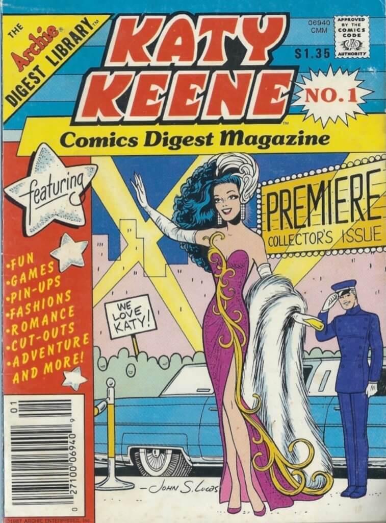 Cover to Katy Keene Comics Digest Magazine No. 1, Archie Comics, 1987