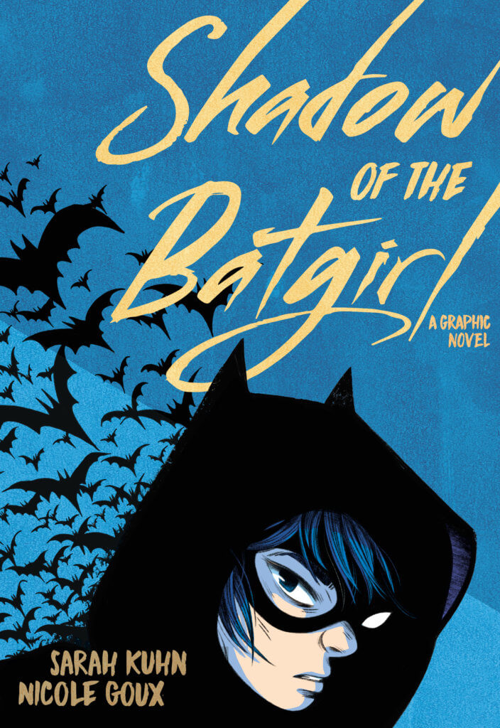 A hooded Cass Cain on the cover, with bats flying up behind her