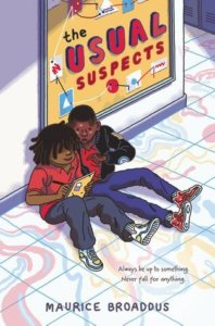 two kids look at a notebook while sitting on the floor in this book cover illustration