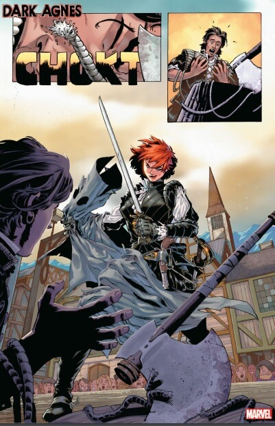 Page from Dark Agnes #1 (Marvel Comics, February 2020)
