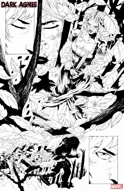 Pag from Dark Agnes #1 (Marvel Comics, February 2020)