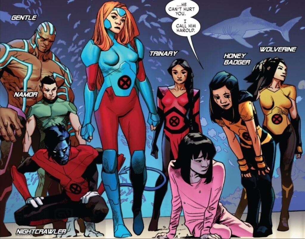 The X-Men: Red team stands in tableau