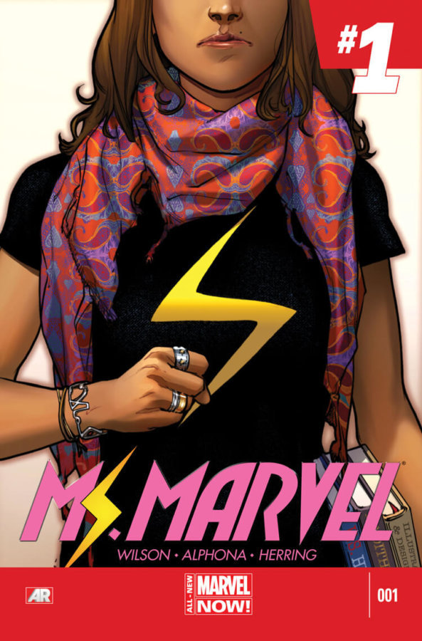Ms. Marvel (2014-2015) #1 Cover by Sara Pichelli depicting Kamala Khan