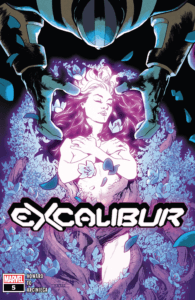 Mahmud Asrar's cover to Excalibur #5 (Marvel Comics, January 2020).