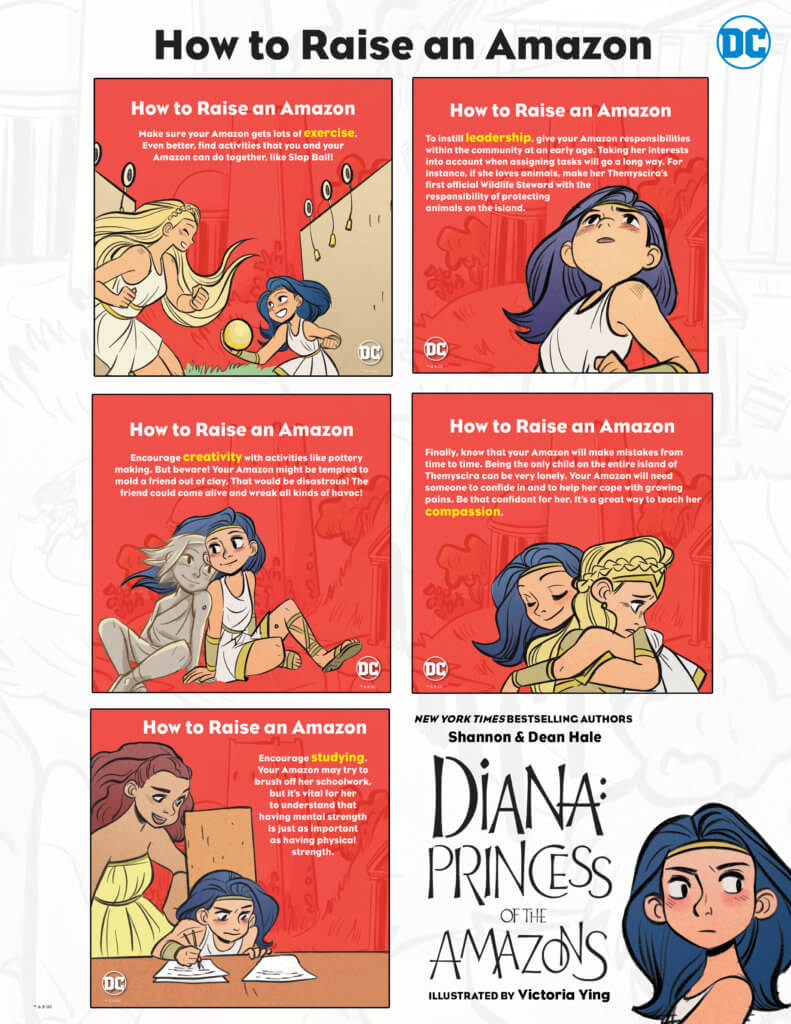 A guide to raising your little Amazon - Diana: Princess of Amazons