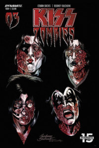 Rodney Buschemi Cover for Kiss Zombies #3 C Dynamite Comics 2020
