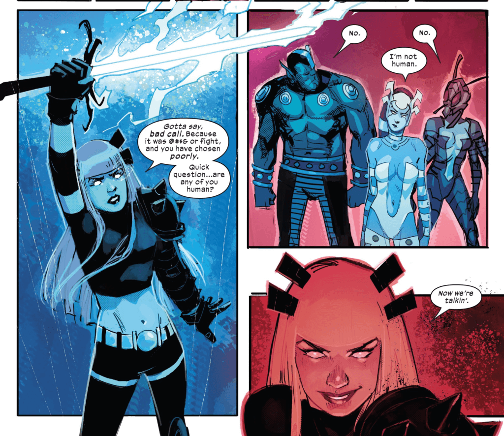 Interior art by Rod Reis to New Mutants #5 (Marvel Comics, January 2020).