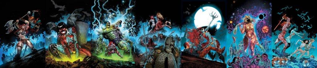 Dynamite Zombie Cover Triptych C 2020 Dynamite Comics