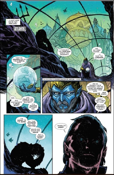 Namor learns about the captured dragon in Pan (Atlantis Attacks #1, pg. 15)