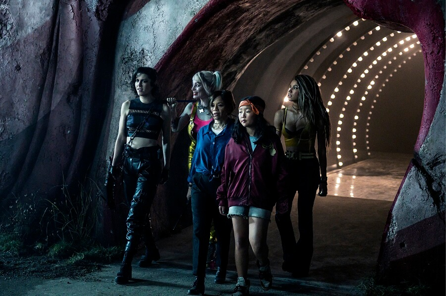 Huntress, Cass Cain, Black Canary, and Harley Quinn in Birds of Prey