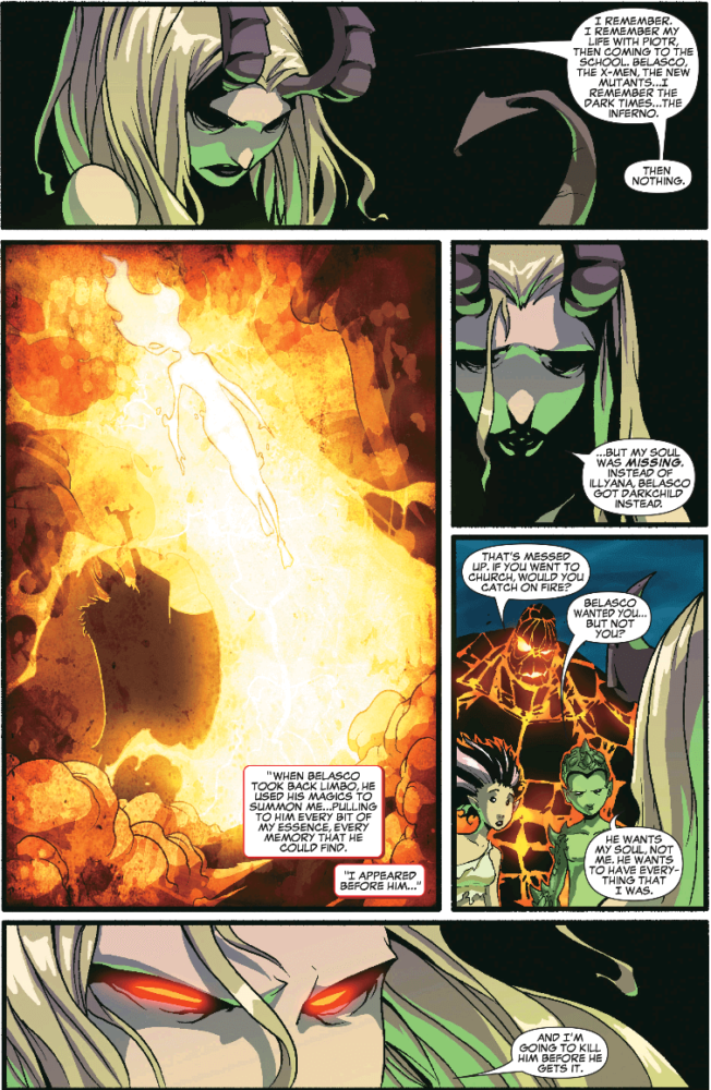 Darchylde explains her situation to the New X-Men
