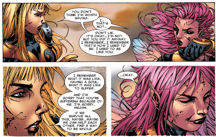 Illyana and Pixie have a heart-to-heart