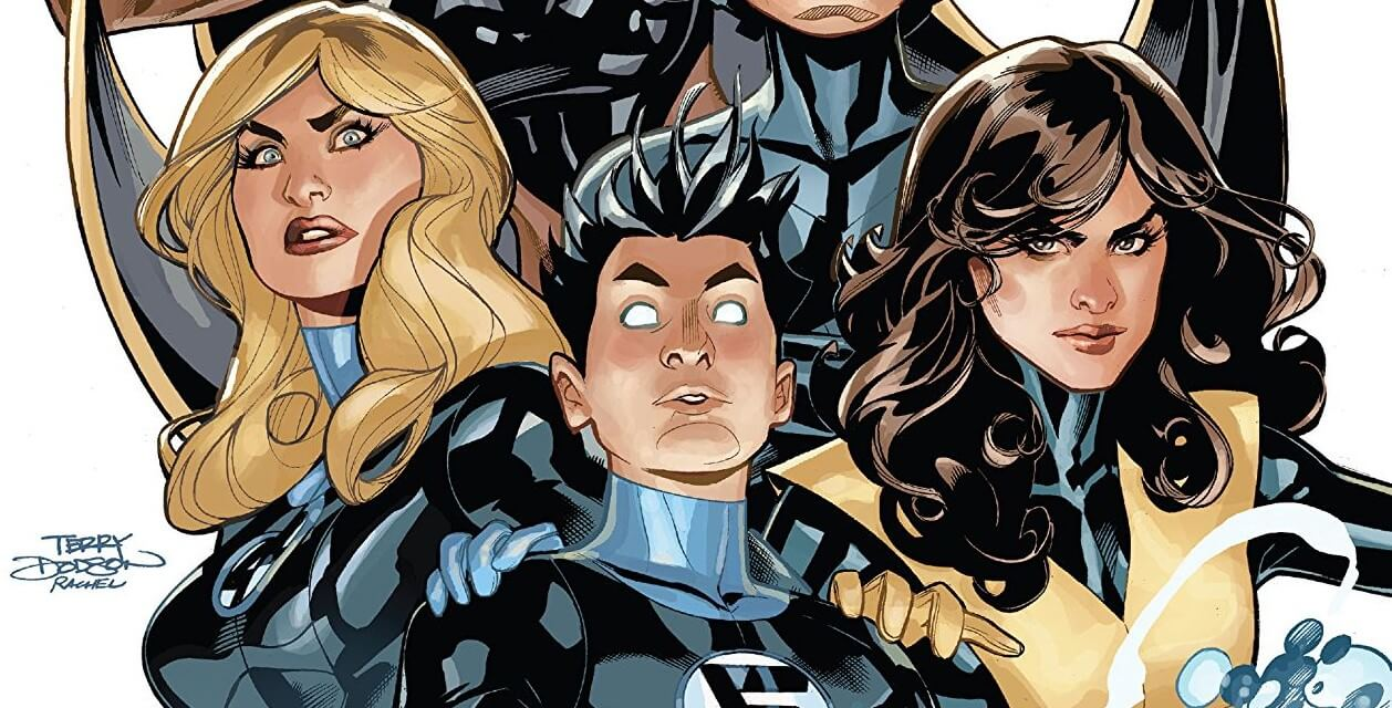 Cover to X-Men/Fantastic Four #1 by Terry and Rachel Dodson, published by Marvel Comics, 2020