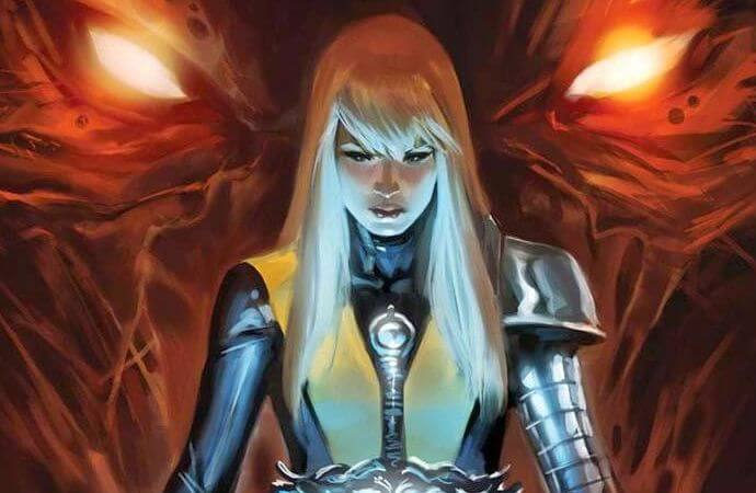 illyana rasputin standing solemnly with her Soulsword