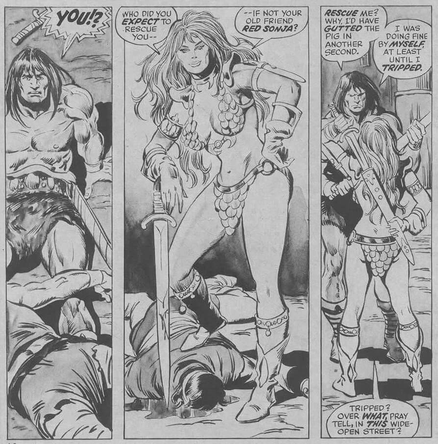 "Conan and Red Sonja in ""The Curse of the Undead-Man"""