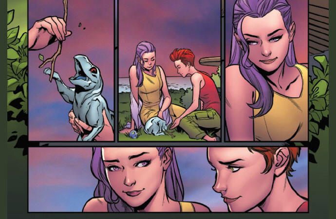 A very gay moment from Excalibur #8
