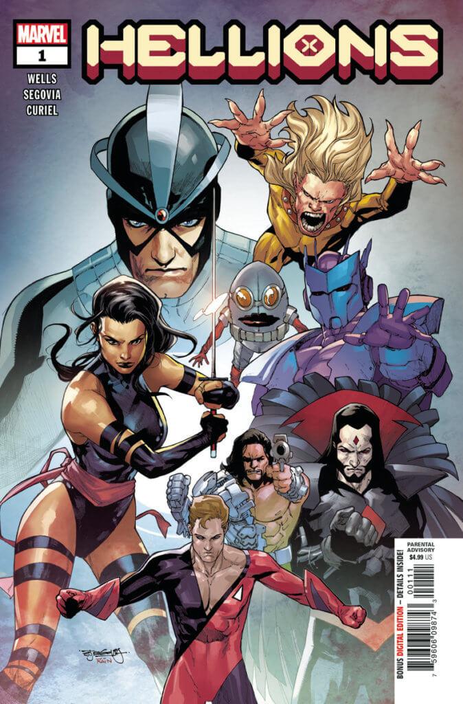Psylocke, Havok, Wildchild, Nanny, Orphan Maker, Sinister, Greycrow, and Empath in Hellions #1
