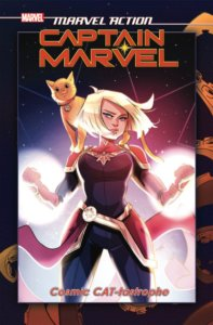 Marvel Action - Captain Marvel - Cosmic CAT-tastrophe TPB Cover IDW Publishing