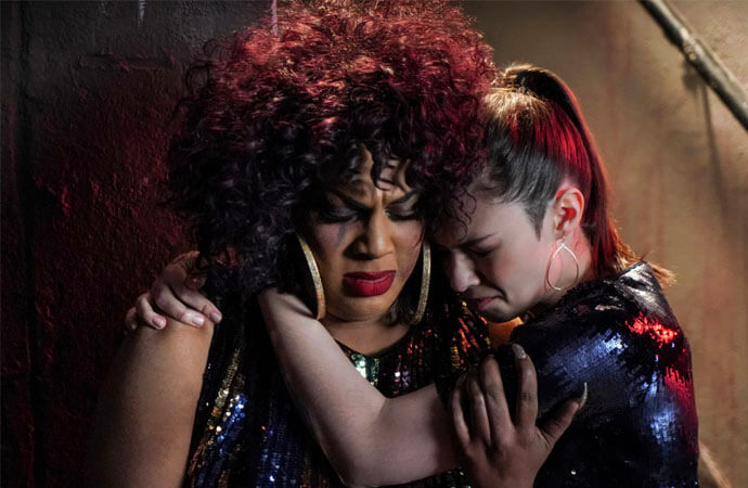 Nia comforting Yvette after the assault