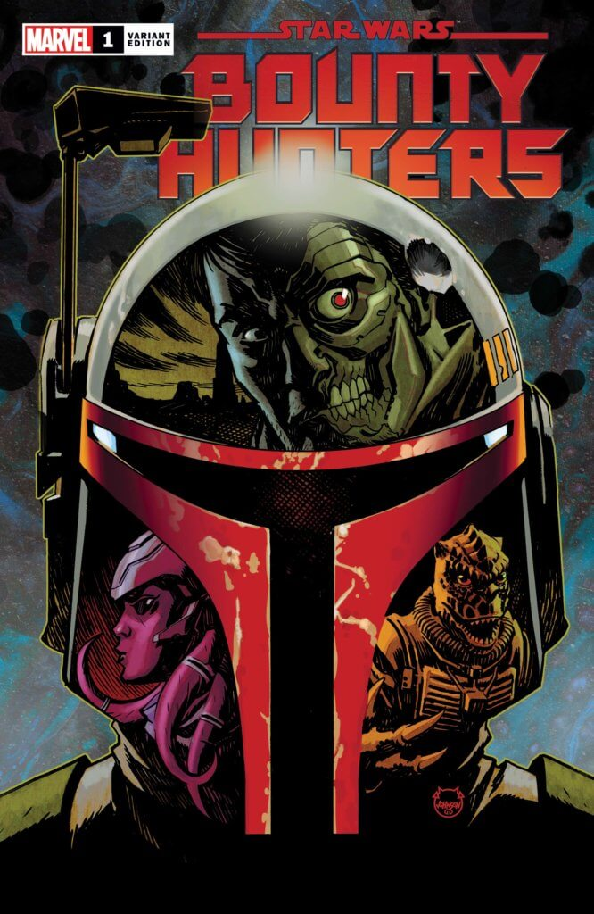 Star Wars - Bounty Hunters #1 Cover B by Dave Johnson. Marvel Comics. March 2020.