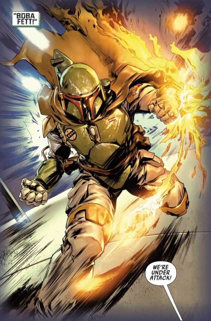 Star Wars - Bounty Hunters #1 Page 5. Marvel Comics. March 2020.