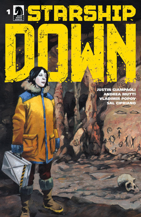 Cover of issue 1 of Starship Down by Andrea Mutti