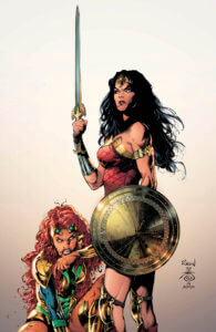 Wonder Woman and Maxima ready for battle