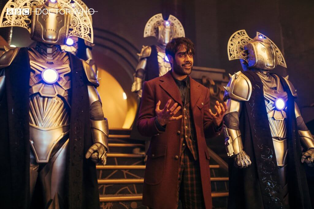 The Master (Sacha Dhawan) leads his army of Cyber Time Lords in the Series 12 finale of Doctor Who