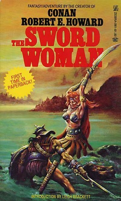 1977 paperback edition of The Sword Woman by Robert E. Howard