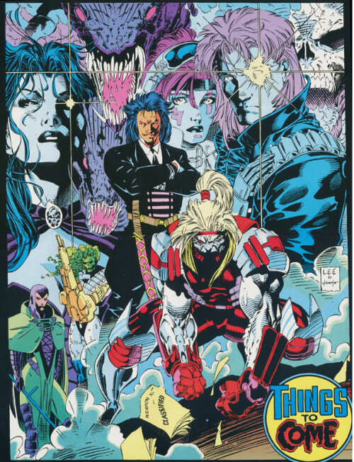"Jim Lee ""things to come"" poster from X-Men 1 (1991)"