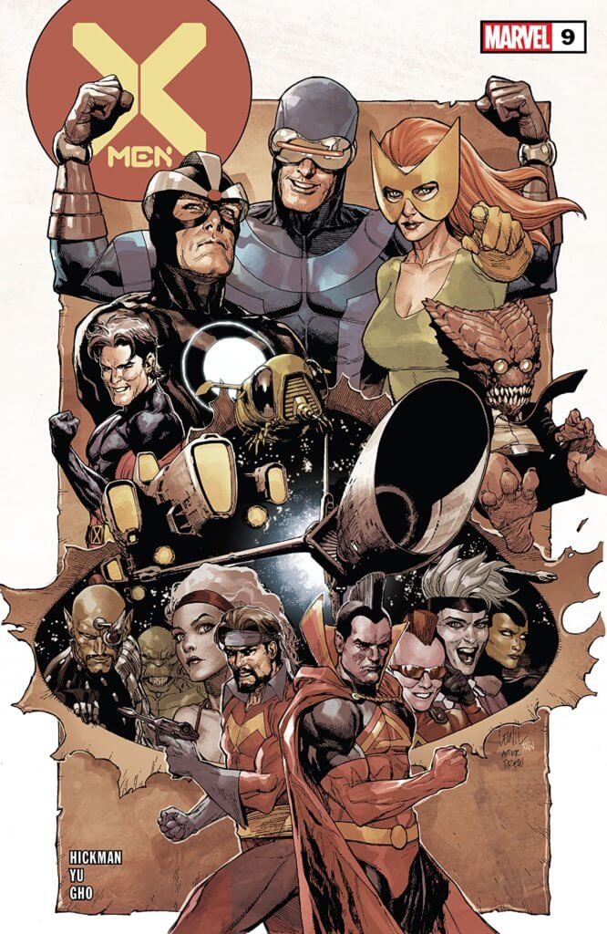 x-men #9 group image cover