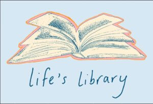 life's library logo shows an open book