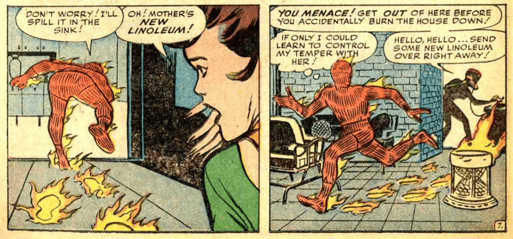 Panel from Strange Tales #114